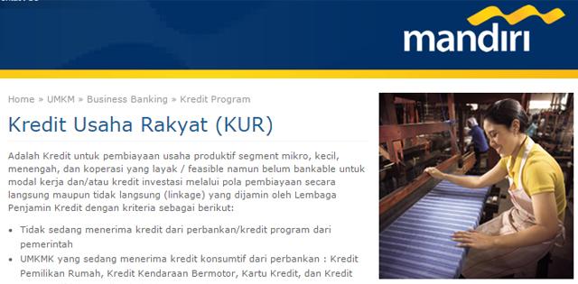 Cara Mendapatkan Kredit Usaha Rakyat (KUR) Bank Mandiri, Baca ...
